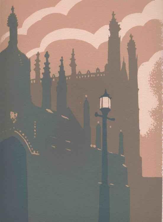 Evening, Kings College, Cambridge -