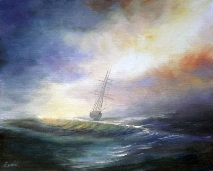 Boat in the Storm - Image 0