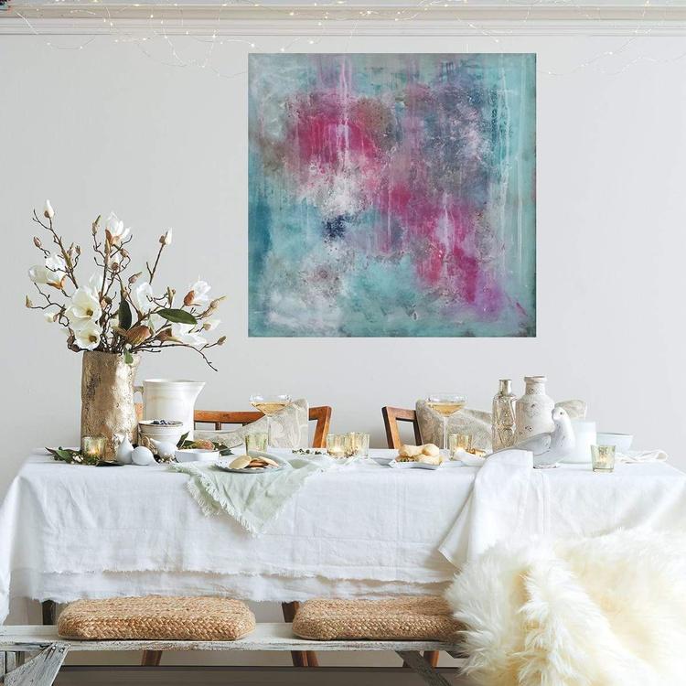 24x24''(60x60cm), Fearless 4, Landscape Modern Urban Art Office Art decor Home Decor - Image 0
