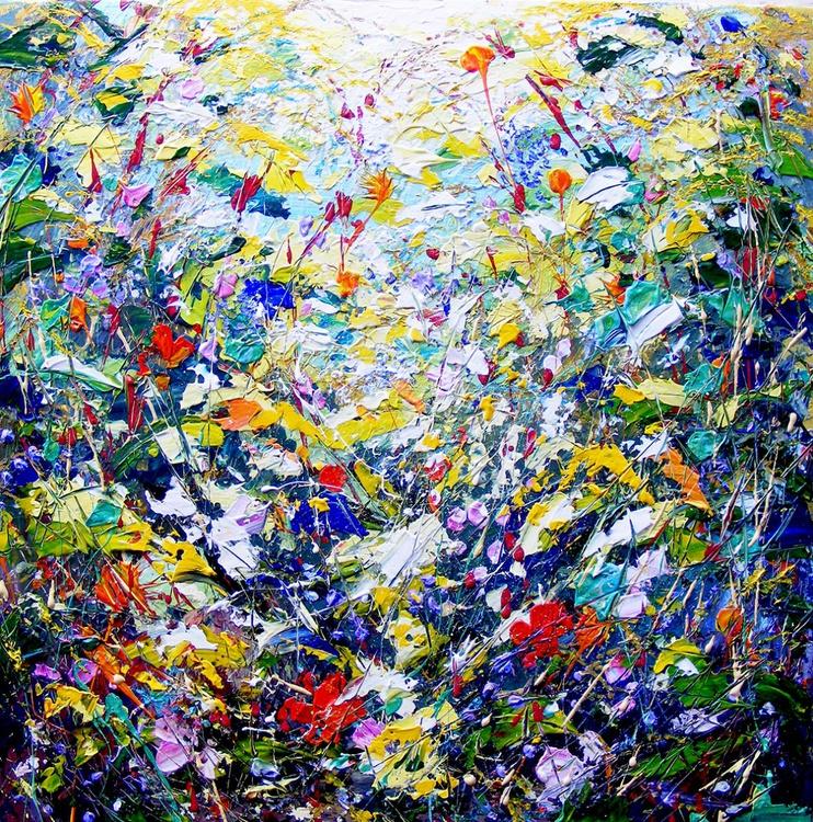 "Abstract, interior design, home decor, art - ""Flower Dance"" - Image 0"