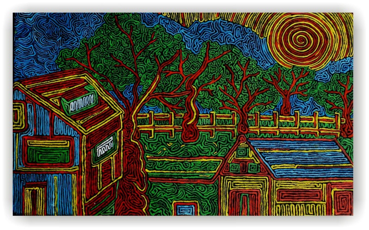 ''the farm in summer''  from the series ''embroidery'' - Image 0