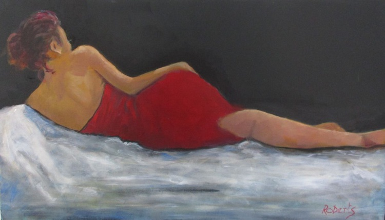 Reclining in red - Image 0