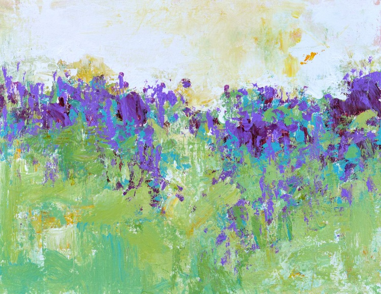 Violet Field 11x14 inches - Image 0