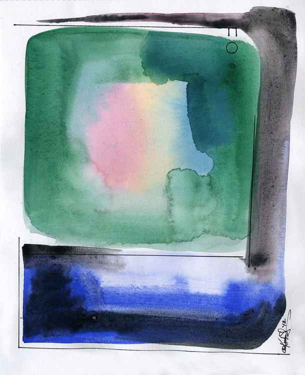 Watercolor Abstraction No. 128 -