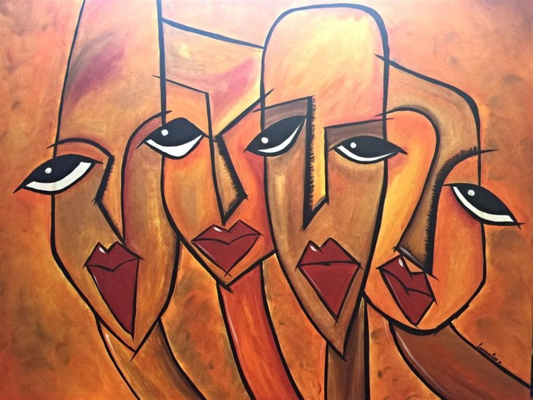 """Golden Nuggets"" - Huge One of a kind Canvas Painting - Image 0"