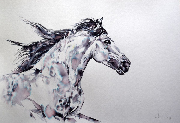 Freedom  / Horse painting / Large - Image 0