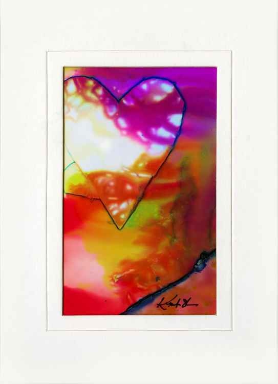 Heart Dreams ... Original Abstract Painting in 5x7 mat by Kathy Morton Stanion -