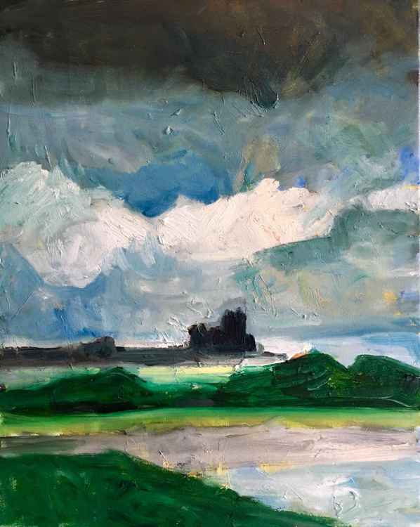 Daily Painting: Castle by the Sea -