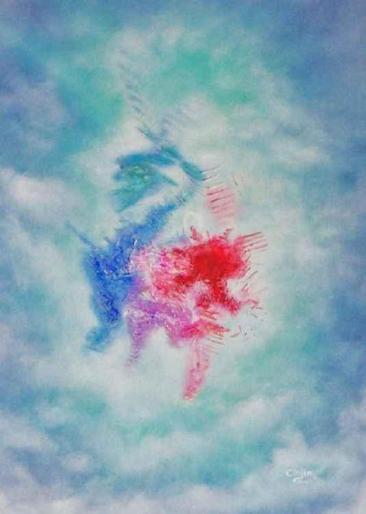 """CLEAR PROGRESS"" - 20 x 30   Cinjin Artworks copyright 2015"