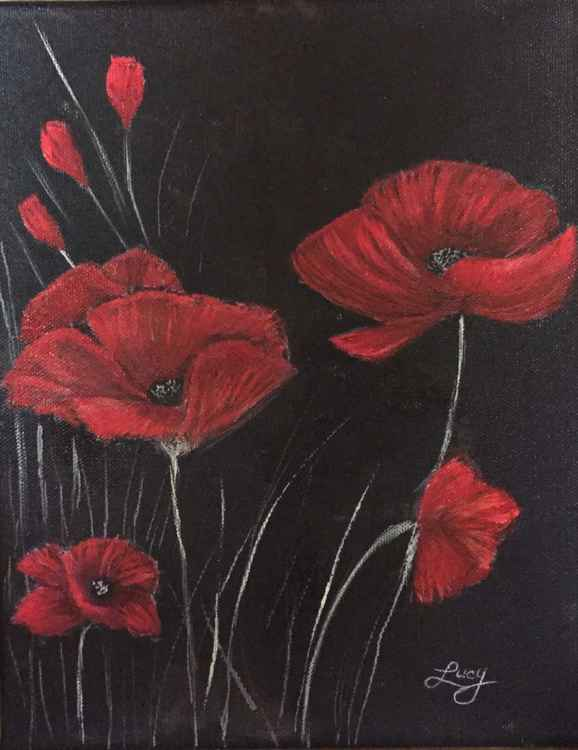Moon light poppies