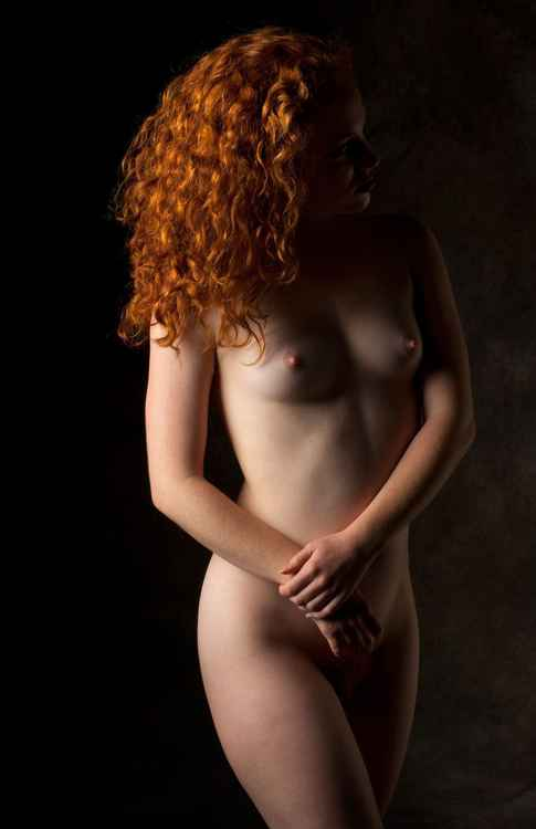 Studio Work: Model with Red Hair -
