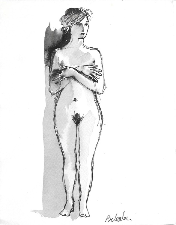 Standing Nude 6, 20x25 cm - Image 0