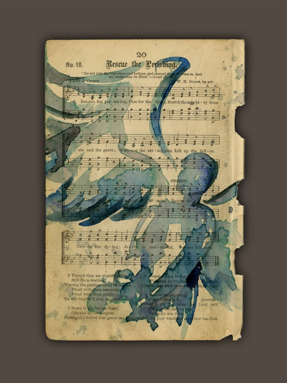 Calling All Angels No. 54 on Gospel Hymn Book Page from 1800's - Image 0