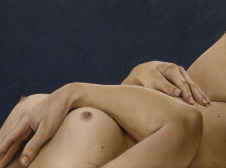 reclining nude and blue - Image 0