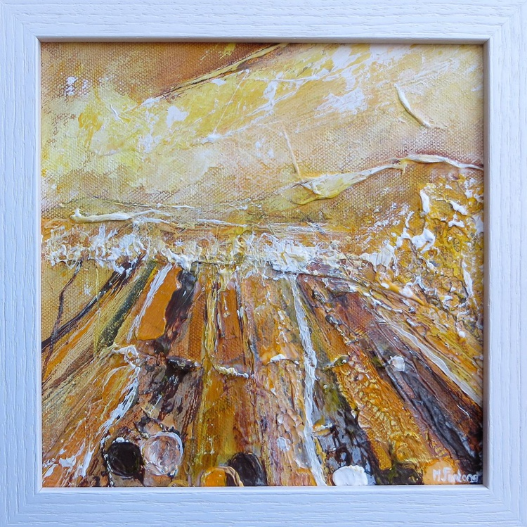 One Brown And Yellow Day In The Bog (framed) - Image 0
