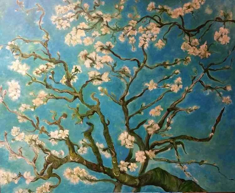 """amandelbloesem""inspired by van Gogh"""