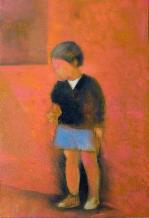 Childhood, oil on canvas, 38x55 cm - Image 0