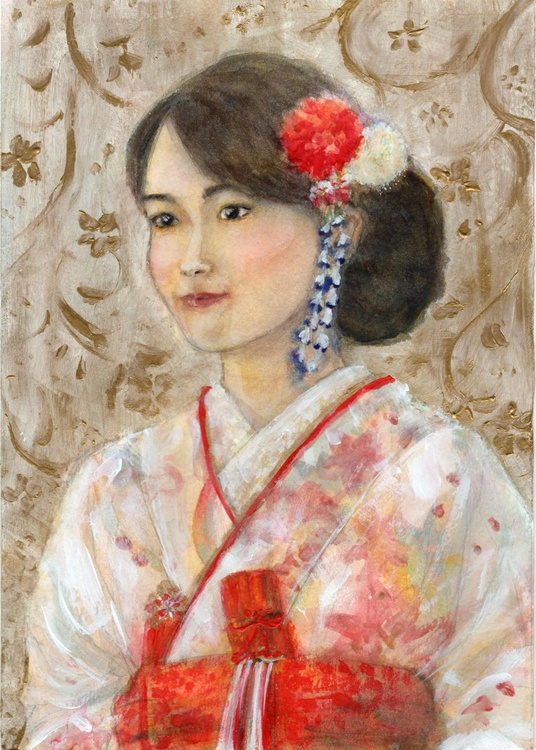 Portrait of my sister in her wedding kimono - Image 0