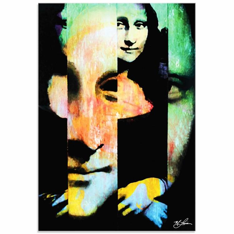 Mark Lewis 'Mona Lisa Noble Purity' Limited Edition Pop Art Print on Acrylic - Image 0