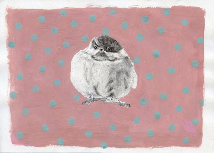 Chubby little bundle painting - Image 0