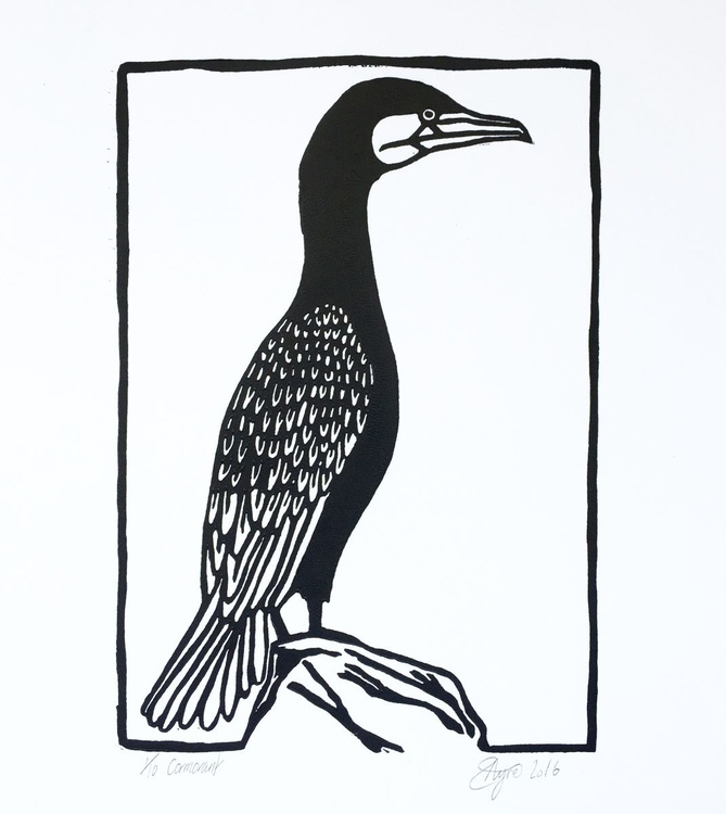 Cormorant Limited Edition of 10 Original Prints - Image 0