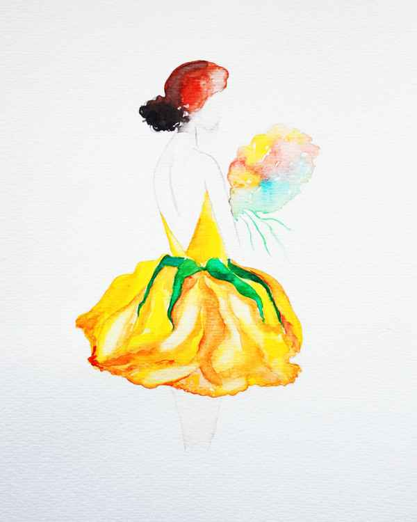 Yellow Lady Rose -