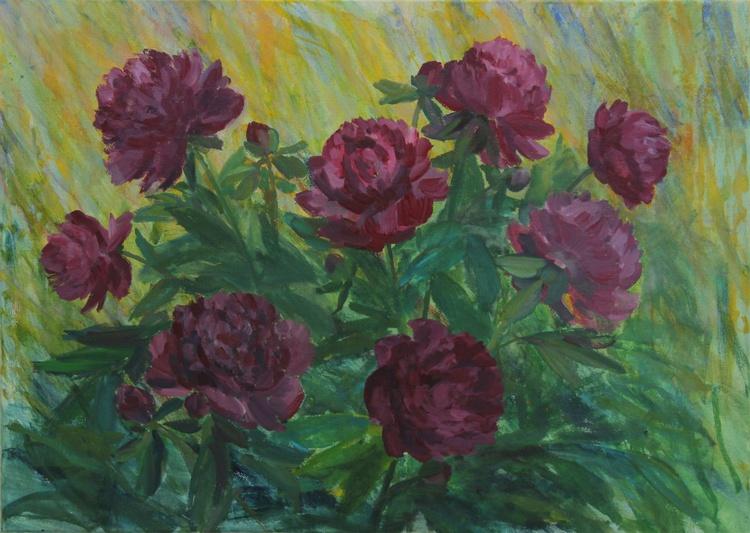 Lush Flowers- Bujni cvetovi 2014_acrylic on canvas_50 x 70 cm - Image 0