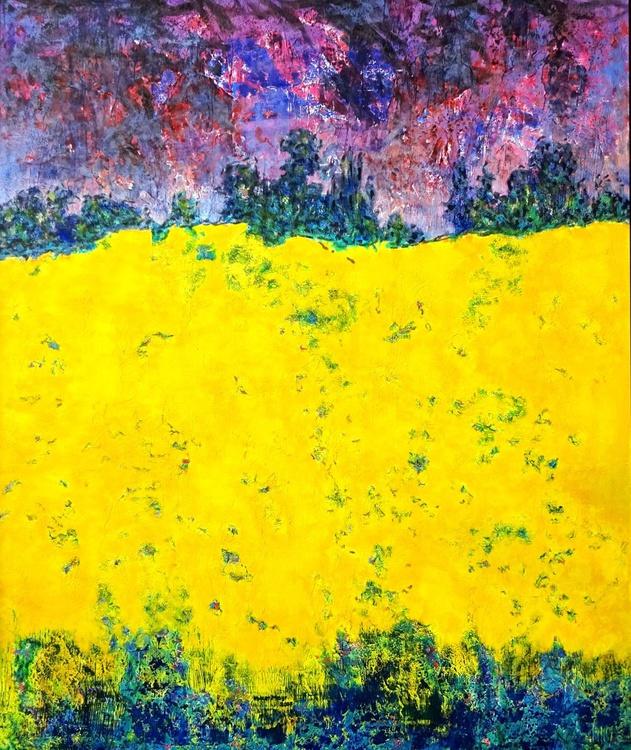 Rapsfeld Malerei Ölbild 100 x 120 cm - Image 0