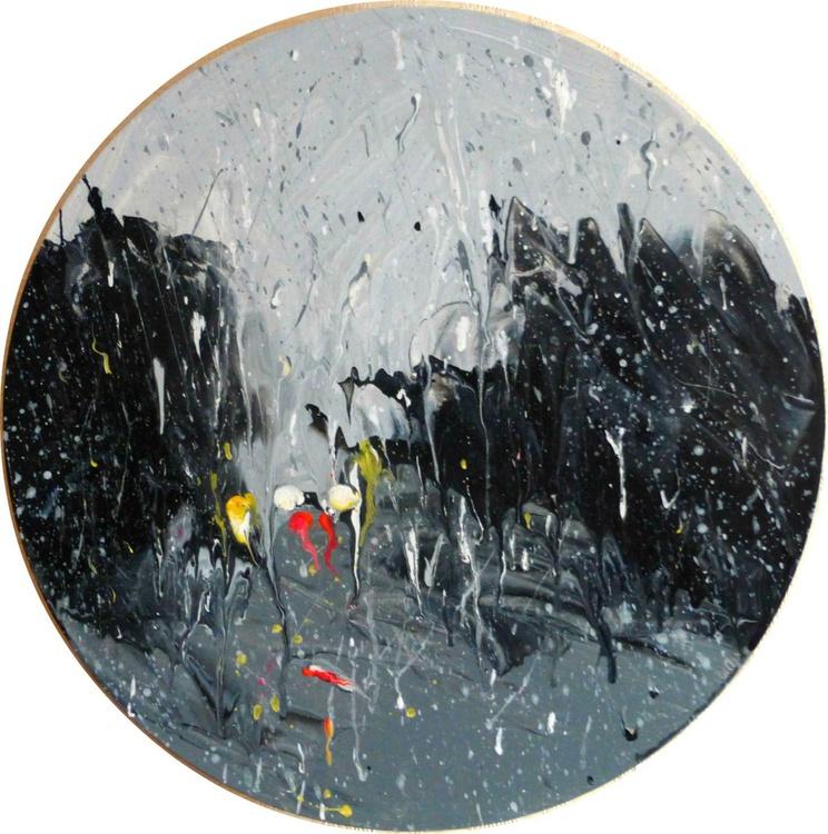 Rain. original painting. 50x50 cm. ready to hang - Image 0