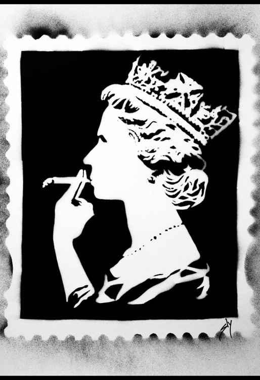 Spliff Queen (black) (On Paper)