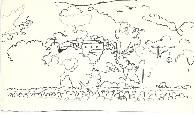 Village in the Pyrenees #5, 24x14 cm - Image 0