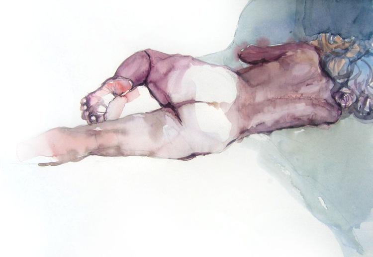 backview ,nude lying pose - Image 0