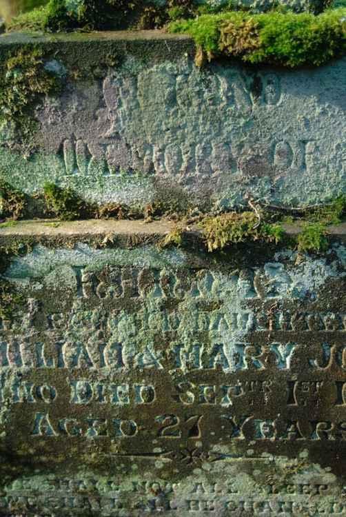 Woodland gravestone -