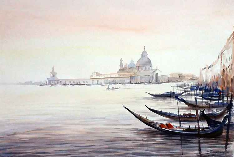 Venice at Early Morning - Watercolor Painting -