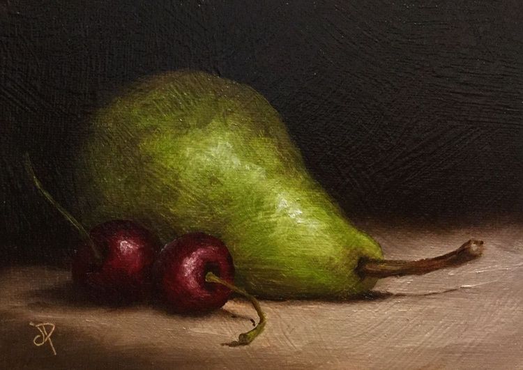 Pear with Cherries No.2 - Image 0