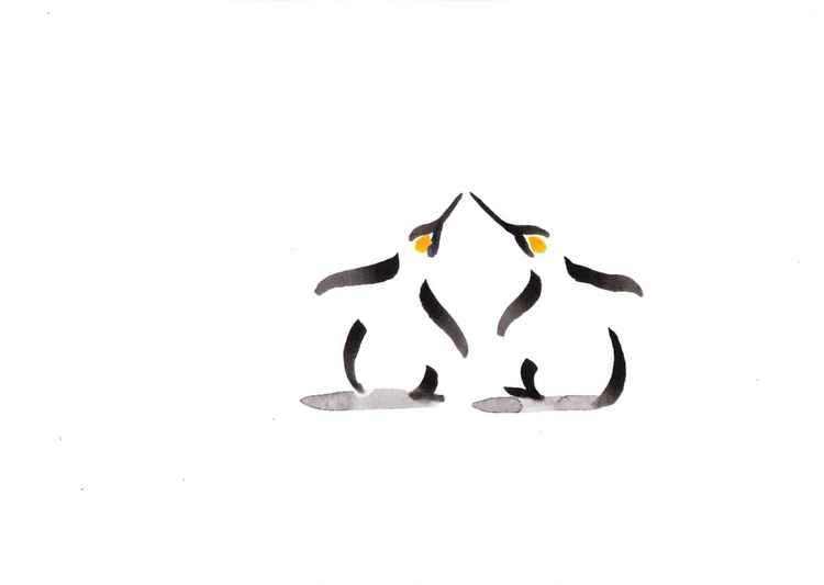 Two penguins 3021A