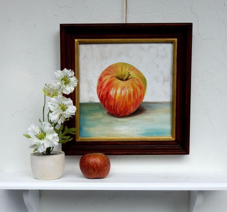 Apple. Still life, 25x25cm - Image 0