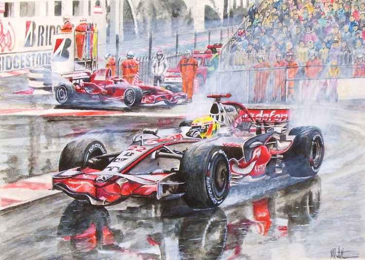 Lewis Hamilton and Kimi Räikkönen -