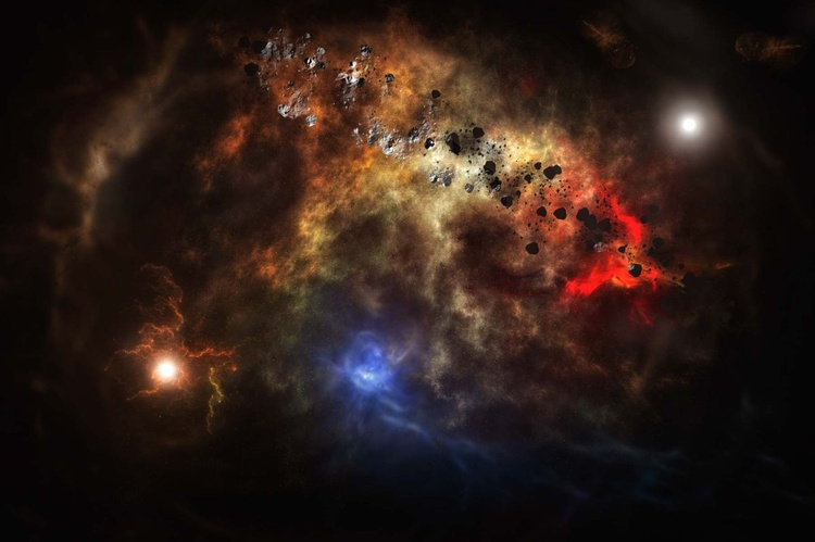 Cloud of asteroids / poster - Image 0