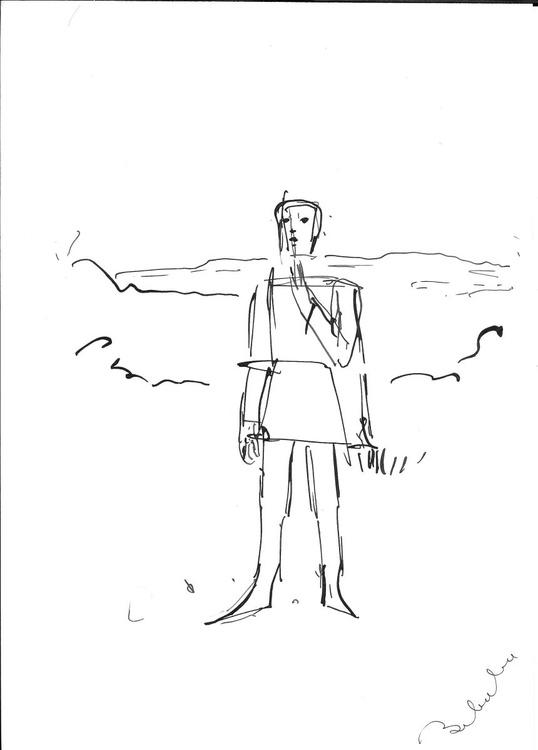 Line drawing, study #5 21x29 cm - Image 0