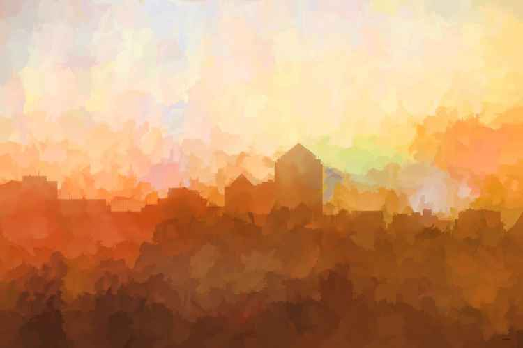 Albuquerque, New Mexico Skyline - In the Clouds -