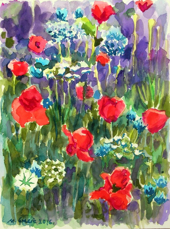 Poppies and wild flowers - Image 0