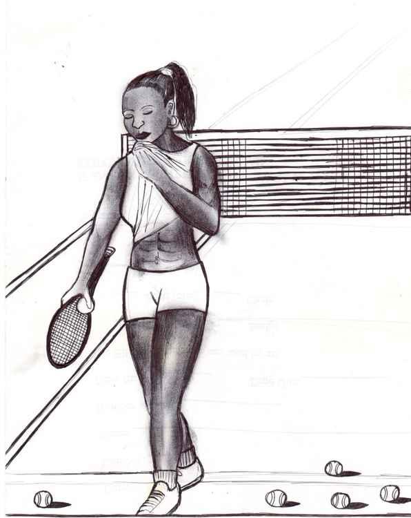 Tennis practice -