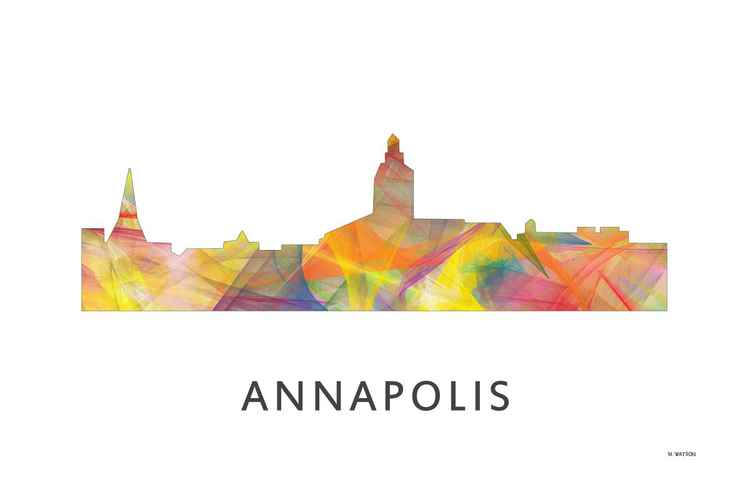 Annapolis Maryland Skyline WB1 -