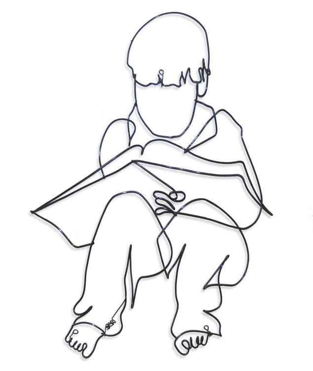 Boy Reading -