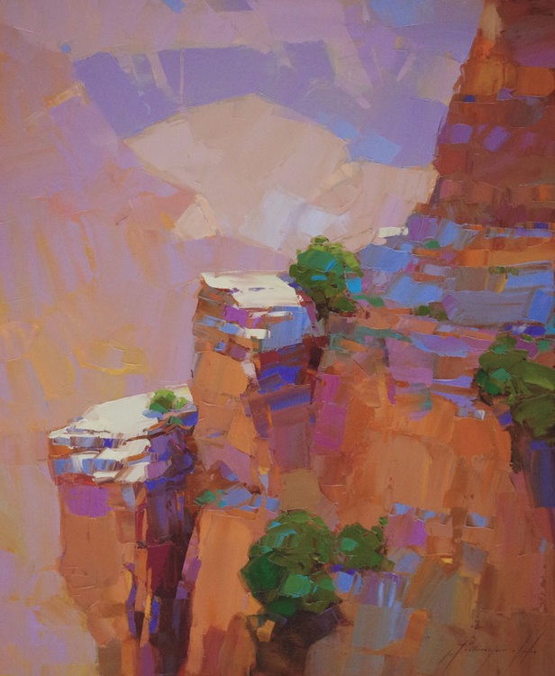Grand Canyon Landscape oil painting One of a kind Signed Hand Painted - Image 0