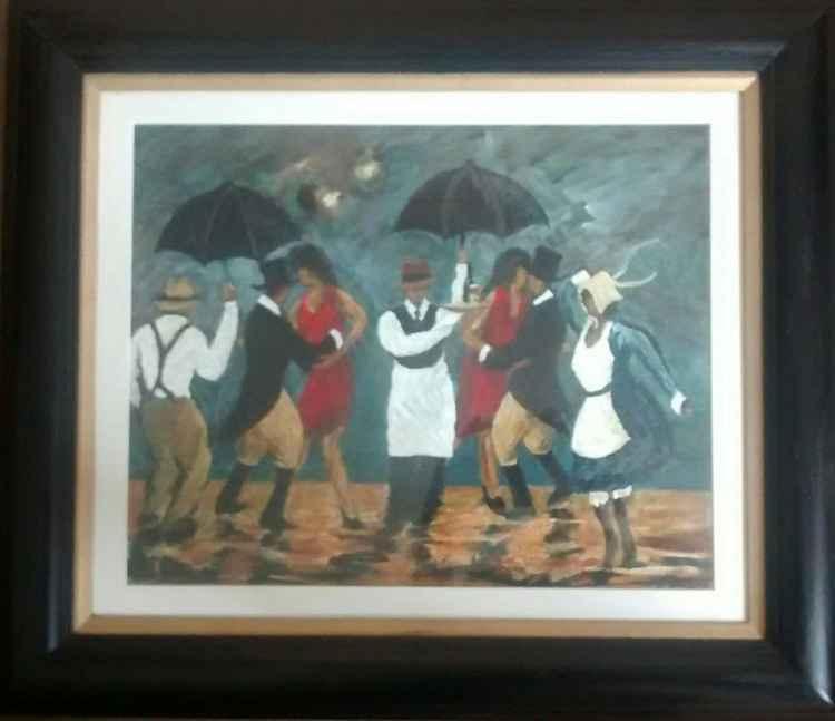 Dancing in the rain. -