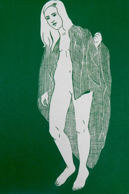 Nude in Green - Image 0