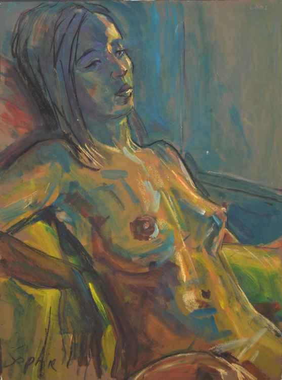 Green-Hued Nude -