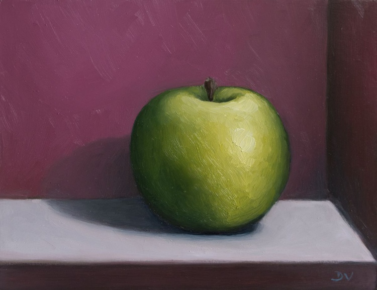 Still life with green apple 3 - Image 0